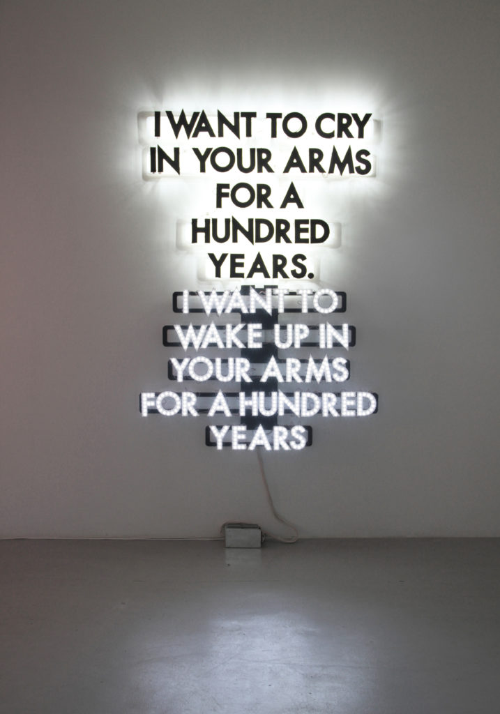 A Hundred Years, 2014 by Robert Montgomery