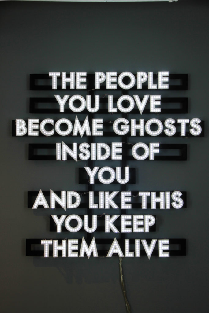 PEOPLE YOU LOVE, 2015 by Robert Montgomery