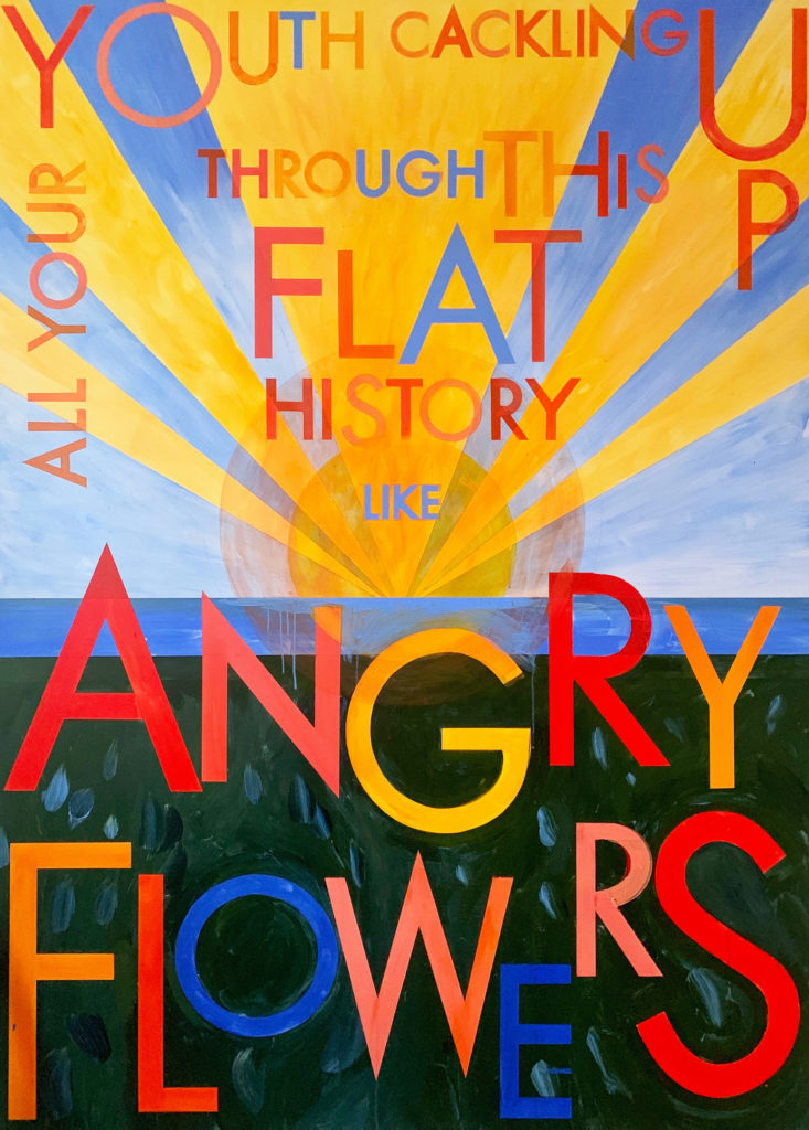 Annunciation Painting (Angry Flowers), 2019 by Robert Montgomery